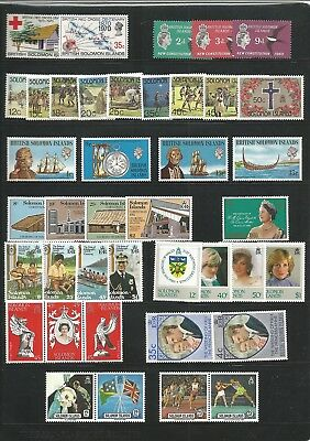 Br. Solomon Is - MNH Collection Lot 2- 2 pages