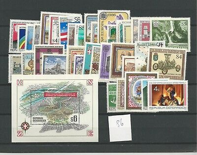1986 MNH Austria year complete