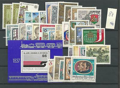 1987 MNH Austria year complete