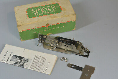Vintage Singer Sewing Machine Buttonhole Attachment 121795 Lock Stitch with box