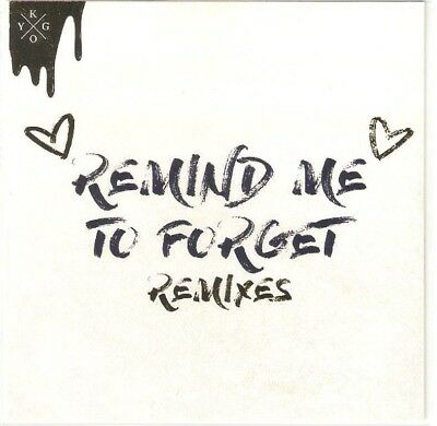 Kygo - Remind Me To Forget - Brand New Brazilian 13 Remix Cd Promo
