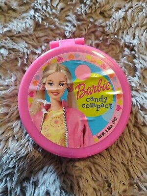 Vintage 2003 Frankford BARBIE CANDY MAKEUP COMPACT Candy Container bubble gum