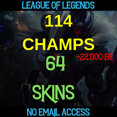 League of Legends Account NA Champs Champions Skins LOL All Unranked | NO EMAIL|