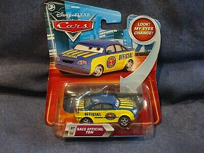 Rare Disney Pixar Cars 1 Race Official Tom Version Yeux Qui Bougent Look My Eyes