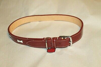 a1270a8a COACH DOG COLLAR Heart Tag Red 60064 Patent Leather Sz XL