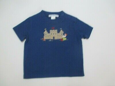 Infant Boys Janie And Jack School Of Fish Blue Castle Tee Shirt Size 0-3 Months