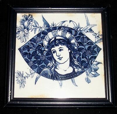 Wedgwood 1883 Dk Blue Cameo Tile By Thomas Allen