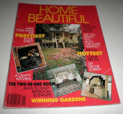 MAY 1991 VINT AUST HOME BEAUTIFUL MAG–90s HOTTEST COLOR TRENDS, A CRAFTY KITCHEN