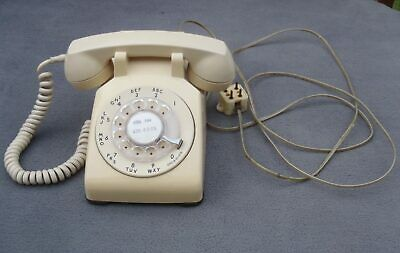 Vintage Bell System Western Electric Cream Ivory Rotary Dial Desk TELEPHONE 500