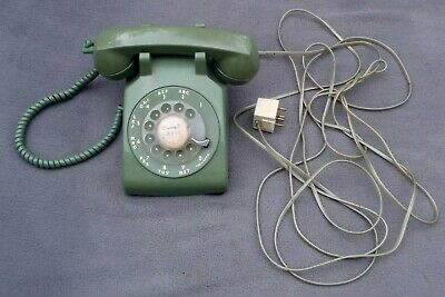 Vintage Bell System Western Electric GREEN Rotary Dial Desk TELEPHONE 500 VGUWC
