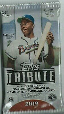 2019 Topps Tribute Baseball Guaranteed Jersey Or Patch Hot Pack Hobby Multy?