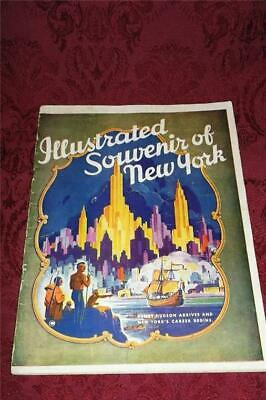 Rare Vintage 1946 Book New York City Illustrated Souvenir Statue Of Liberty+ ~Nr
