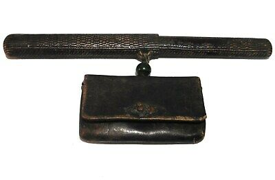 an original c.1868-1912 era Japanese Samurai Tobacco Pouch & Pipe Carrier.