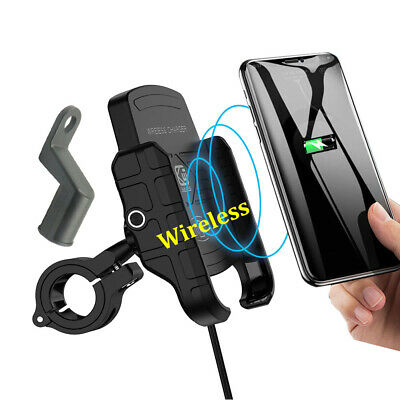Motorcycle Wireless Charging Mobile Phone Charger Holder Mount Stand For Phone