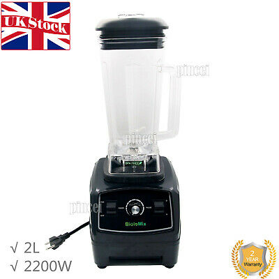 2L 2200W Commercial Blender Mixer Juicer Food Processor Ice Smoothie Bar UK