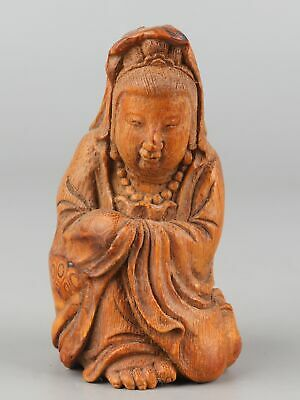 Chinese Exquisite Hand-carved beauty carving  Bamboo Root statue