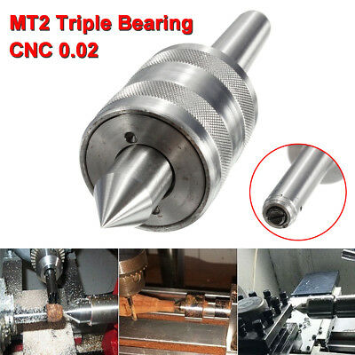 MT2 Precision Pointe Vive Centre Morse Triple Cône Tour Tournante CNC Outil