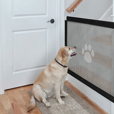 1.8M*0.7M Retractable Pet Dog Cat Gate Safety Guard Baby Stair Magic Isolation