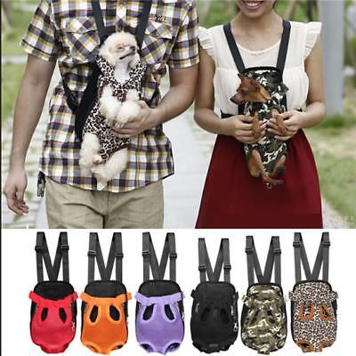 Mesh Pet Puppy Dog Cat Carrier Backpack Front Net Bag Tote Sling Outdoor LC