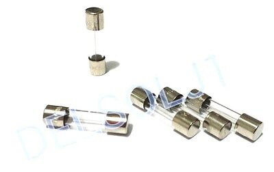 SET OF 6 GMA 5A BRAND NEW 125V 5A125V BUSS BUSSMANN FUSES FAST ACTING 5mm X 20mm