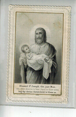 Antique Holy Card - Canivet - Lace - Santino - Image Pieuse