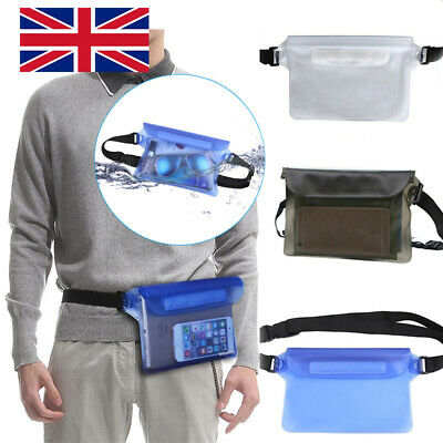 Waist Bag Fanny Pack Swimming Underwater Beach Dry Pouch Case Wallet Bag UK