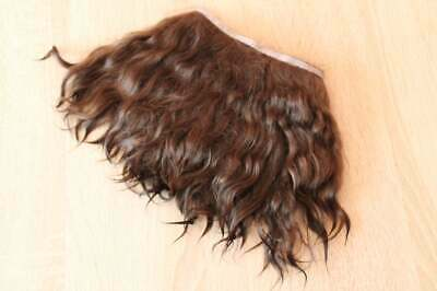 Mohair weft Mohair doll hair  Mohair locks Reborn reroot (dark brown)