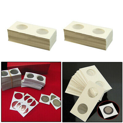 100pcs 40 mm Assorted Mylar Cardboard Coin Holders Lighthouse Cover Case Storage