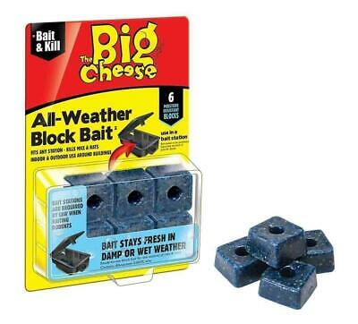 STV Big Cheese 6 Blocks All Weather Poison Bait Rat Mouse Mice Rodent Killer
