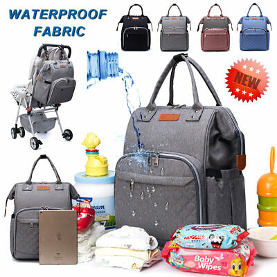Multi-Function Tote Baby Mummy Bag Changing Bag Diaper Nappy Backpack Set UK