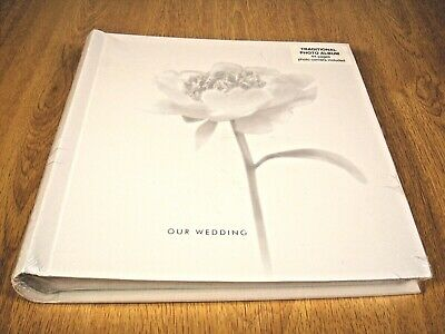 Traditional Our Wedding White Photo Album 44 pages photo corners included