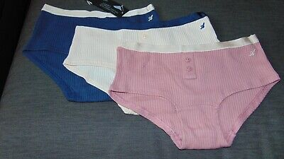 M&S Autograph Set of 3 Cotton Rich Shorts Style Briefs 6-7y 7-8y Navy MixBNWT