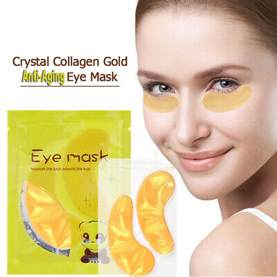 Crystal Collagen 24k Gold Under Eye Gel Pad Face Mask Anti Aging Wrinkle