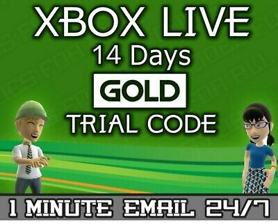 Xbox Live Gold 14 day trial instant dispatch