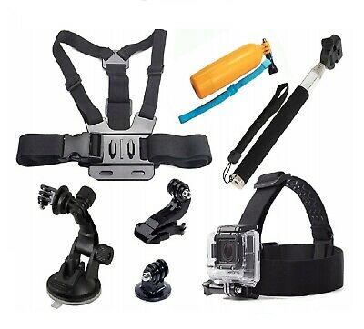 GoPro Accesories Set Kit Hero 5 6 7 Black Camera Head Chest Mount