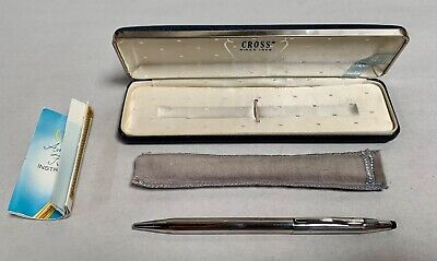Vintage Sterling Silver CROSS Ballpoint Pen With Box (A10)