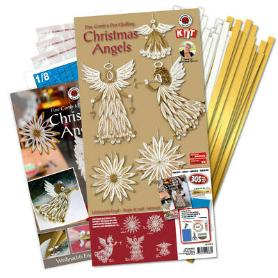 Karen Marie Klip: Christmas Angels Comb & Pen Quilling Kit, Gold/White