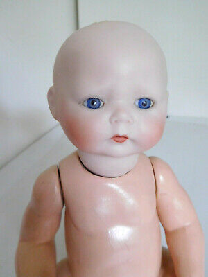 "Antique German Reproduction 11"" Bisque Pouty Baby Mold 1924"