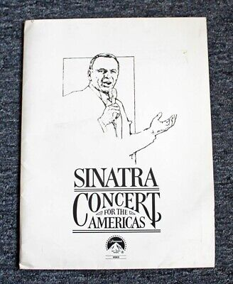 """1982 FRANK SINATRA """"CONCERT FOR THE AMERICAS"""" PRESS KIT w/ PHOTO & PRESS SHEETS"""