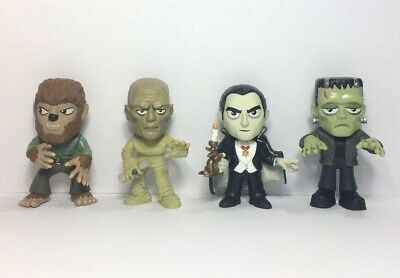 Funko Mystery Minis Universal Monsters Frankenstein, Dracula, Wolf Man Mummy Set