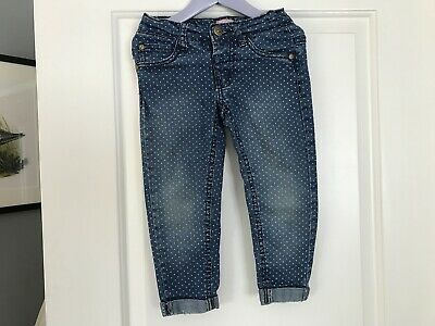 MINOTI GIRLS DISTRESSED JEANS AGE 2-3years DENIM WITH SPOTS