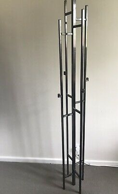 Beautiful Iron Wrought Free Standing Coat Rack With Two Layers Of Hooks