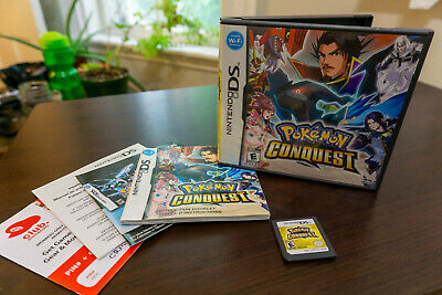 Pokemon: Conquest Nintendo DS, Complete w/ All Original Packaging