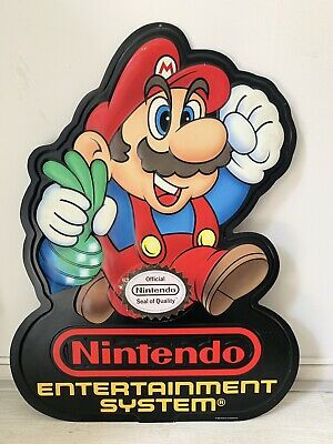 Nintendo Entertainment System Double Sided Store Display - Super Mario -