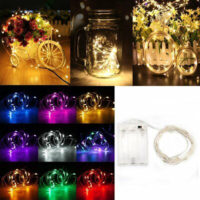 20/30/100 LED Battery Micro Rice Wire Silver Copper Fairy String Lights Party UK