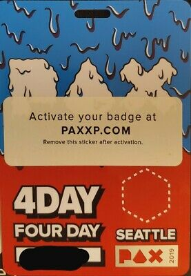 PAX West 2019  - 4 day badge - Seattle, WA