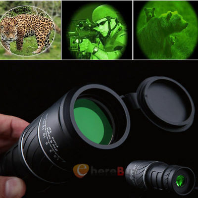HD 40X60 Zoomable Monocular Binocular Telescope Day &Night Vision +Carry Bag