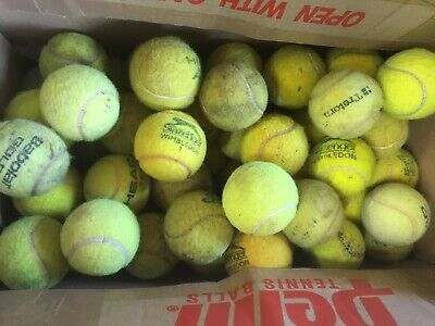 30 Used Tennis Balls - Fair Condition. Some Are A Little Dirty But None Damaged