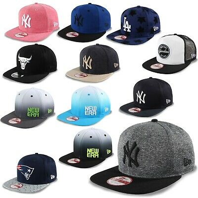 New era Cappello Snapback 9Fifty New York Yankees Patriots Chicago Bulls #K2