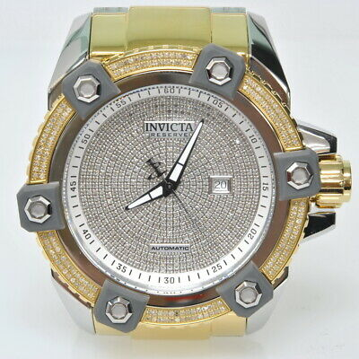 Mens Invicta Reserve Grand Arsenal 2.35CTTW Diamond 56mm Automatic Watch MSRP$9K